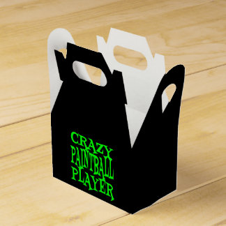 Crazy Paintball Player in Green Party Favour Boxes