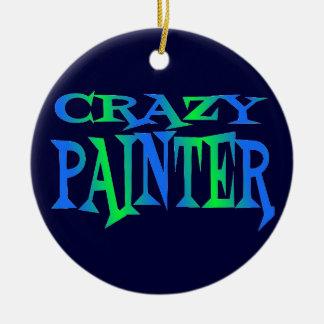 Crazy Painter Christmas Ornament