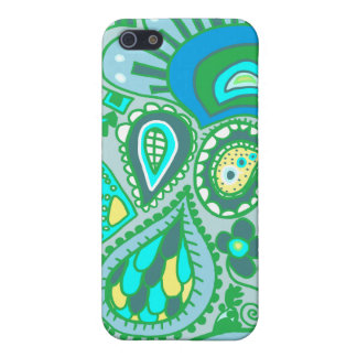 Crazy Paisley  Blue-Green Case Case For The iPhone 5