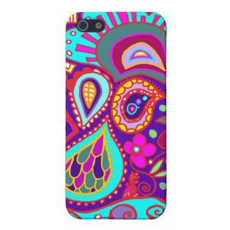 Crazy Paisley in Deep Purple/Blue, aqua, pink CASE iPhone 5 Covers