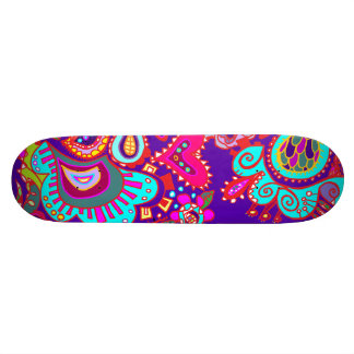 Crazy Paisley in Deep Purple-Blue  SKATEBOARD TBA