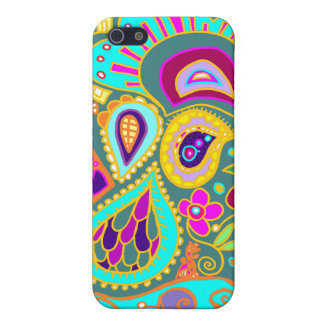 Crazy Paisley in Jade   Case Case For iPhone 5/5S