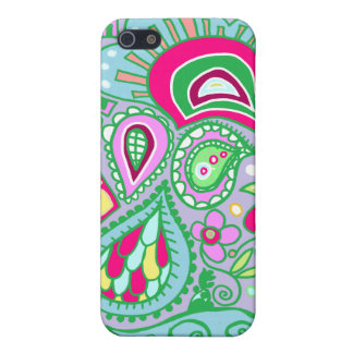 Crazy Paisley - Lavender, Blue, green & pink CASE iPhone 5 Cases
