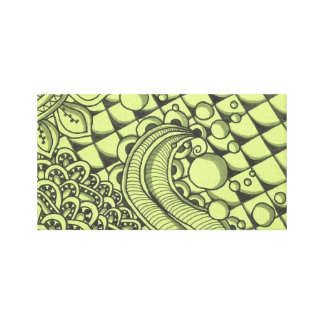Crazy Paisley Stretched Canvas Print