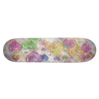 Crazy Pattern Rainbow Hearts Girls Skatedeck Skateboards
