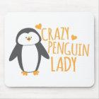 Crazy Penguin Lady Mouse Mat