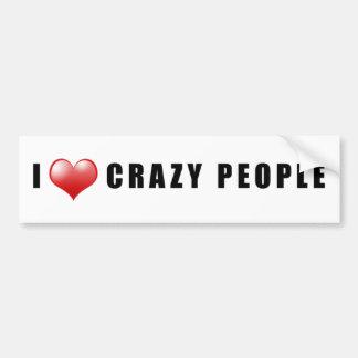 Crazy People Love Sticker Car Bumper Sticker