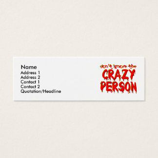 Crazy Person Funny Profile / Business Card