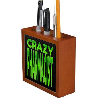 Crazy Pharmacist in Green Desk Organiser