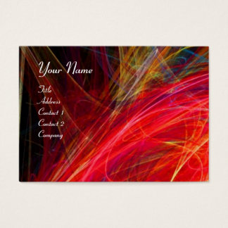 CRAZY PHOTON vibrant soft black red white Business Card