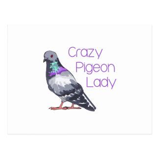 CRAZY PIGEON LADY POSTCARD