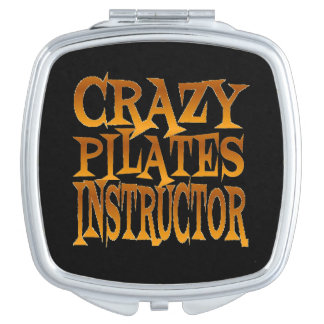 Crazy Pilates Instructor in Gold Travel Mirrors