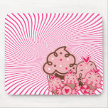 Crazy Pink Swirl and Sweetstuff Mouse Pad