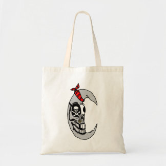Crazy Pirate Moon Budget Tote Bag
