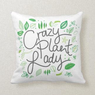 Crazy plant lady cushion