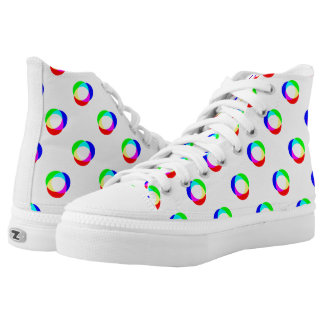 Crazy Polka Dots Custom Background Printed Shoes