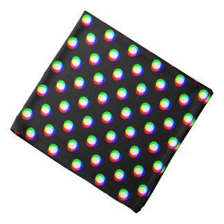 Crazy Polka Dots Custom Black Background Bandana