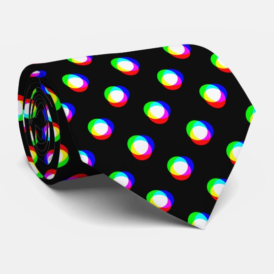 Crazy Polka Dots Custom Black Background Tie