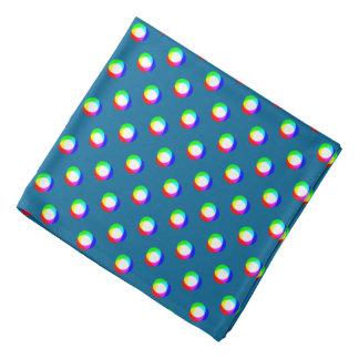 Crazy Polka Dots Custom Ocean Blue Background Bandana