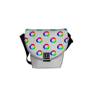 Crazy Polka Dots Custom White Background Commuter Bag