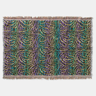 Crazy Psychedelic Animal Print Throw Blanket