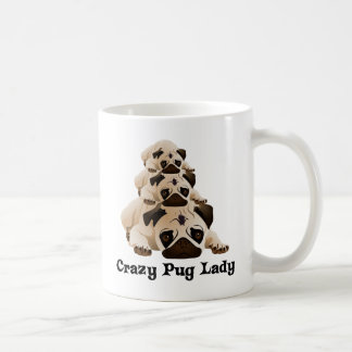 Crazy Pug Lady Coffee Mug