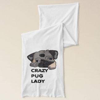Crazy Pug Lady Scarf