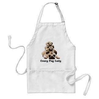 Crazy Pug Lady Standard Apron