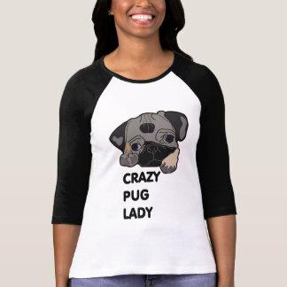Crazy Pug Lady Tee Shirt