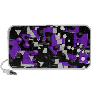 Crazy Purple Black Abstract Travel Speakers