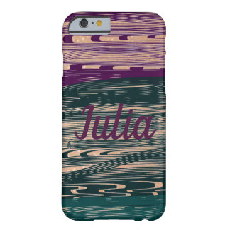 Crazy Purple Green Golden Personalized Barely There iPhone 6 Case