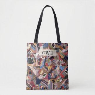 Crazy Quilt Patchwork-Look Custom Tote Bag