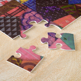 Crazy Quilt Patchwork Quilt Abstract Art Geometric Jigsaw Puzzle