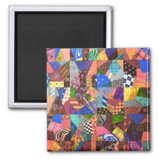 Crazy Quilt Patchwork Quilt Abstract Art Geometric Magnet