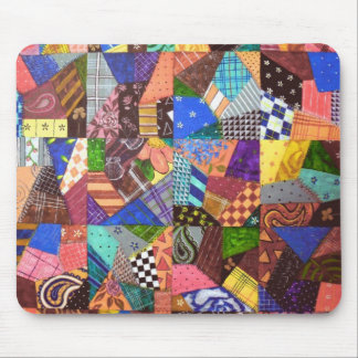 Crazy Quilt Patchwork Quilt Abstract Art Geometric Mouse Mat