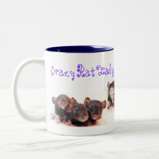 Crazy Rat Lady and Proud of it! Two-Tone Mug