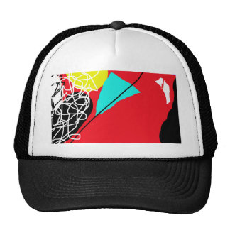 Crazy red abstract design by Moma Cap