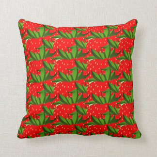 Crazy Red Strawberry Pattern Throw Pillow Cushion
