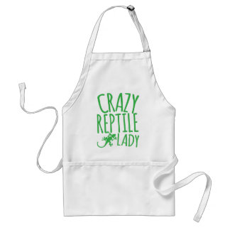 crazy reptile lady standard apron