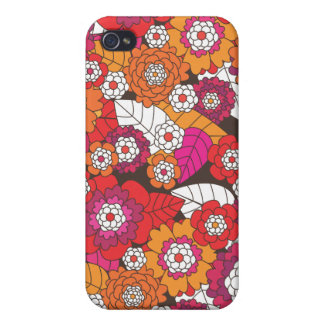 Crazy retro flowers pattern iphone case iPhone 4/4S case