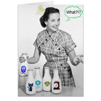 Crazy Retro Mum Cooking Weirdness Customisable Card