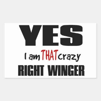 Crazy Right Winger Rectangular Sticker