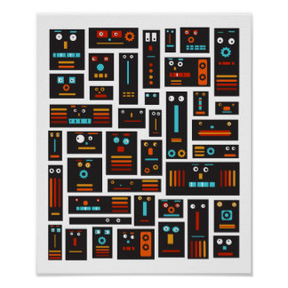 Crazy Robot Friends Poster