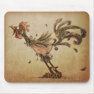 Crazy Rooster Mouse Mat