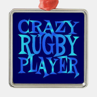 Crazy Rugby Player Christmas Ornament