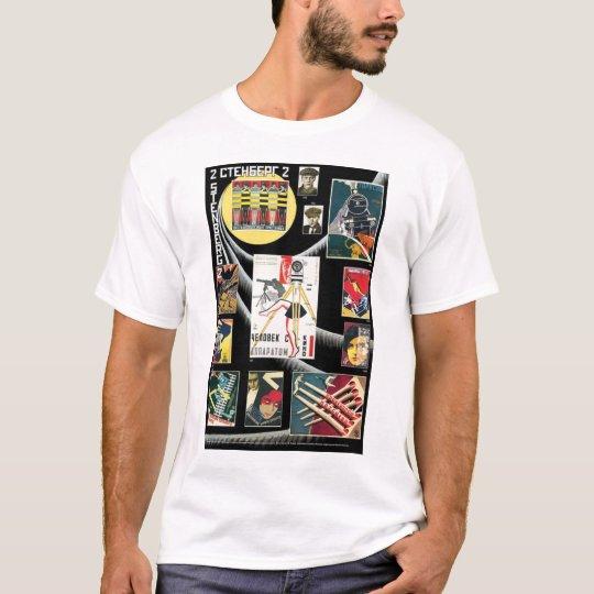 Crazy Russian USSR Propaganda Poster T-Shirt