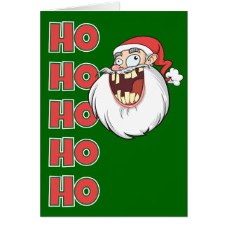 Crazy Santa Claus Laughing Card