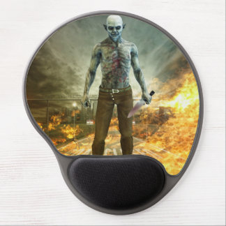 Crazy Scary Monster Apocalyptic Scene Gel Mouse Pad