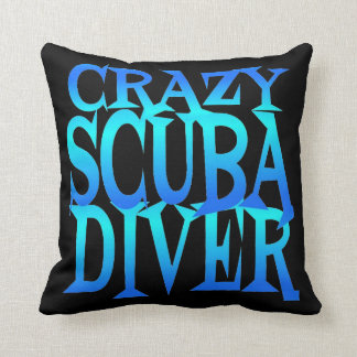 Crazy Scuba Diver Cushion