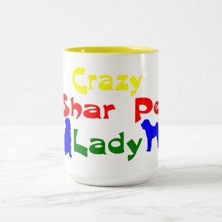 CRAZY SHAR PEI LADY MUGS